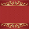 Vintage background with golden ornaments Stock Image
