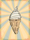 Vintage background with icecream Royalty Free Stock Photo