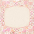 Vintage background with label and flowers paper for your next project Royalty Free Stock Photography