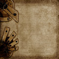 Vintage background with old mechanisms Stock Photography