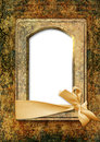 Vintage background with old photo frame beautiful for and text Royalty Free Stock Images