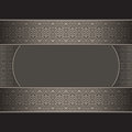 Vintage background ornate label seamless silver borders black Royalty Free Stock Photos