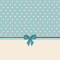 Vintage background with ribbon and bow Stock Photos