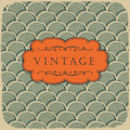 Vintage background with scale pattern. Stock Image