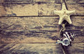 Vintage background with starfish, seashell Royalty Free Stock Photo