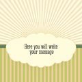 Vintage background with sunbeams vector illustration for your business Royalty Free Stock Photography