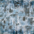 Vintage background on textured fabric in shades of blue canvas with dirty colors Royalty Free Stock Image