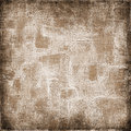 Vintage background on textured fabric in shades of brown canvas with dirty colors Stock Photography