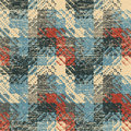 Vintage background textured geometric seamless pattern vector Royalty Free Stock Image
