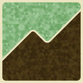 Vintage background with triangle vector illustration for your design Royalty Free Stock Photos