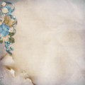 Vintage background with turquoise flowers beautiful and space for notes and photos Royalty Free Stock Photos