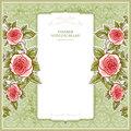 Vintage background for the wedding with roses space text Stock Image