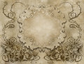 Vintage background wiith floral decoration illustration of a Royalty Free Stock Images
