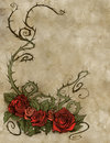 Vintage background wiith floral decoration illustration of a Stock Photos