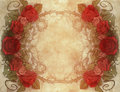 Vintage background wiith floral decoration illustration of a Royalty Free Stock Photos