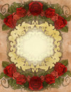 Vintage background wiith floral decoration illustration of a Stock Photo