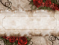 Vintage background wiith floral decoration illustration of a Royalty Free Stock Photography