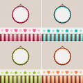 Vintage backgrounds pink blue green and orange Royalty Free Stock Photography