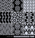 Vintage backgrounds set, damask ornaments Royalty Free Stock Photo