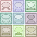 Vintage backgrounds set of with frames and borders Royalty Free Stock Photography