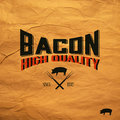 Vintage bacon label eps compatibility required Royalty Free Stock Photos