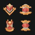 Vintage badge realist label decoration blank or set Stock Image