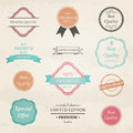 Vintage badges and labels illustration of Royalty Free Stock Photo