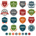 Vintage badges set of retro and labels with texture Royalty Free Stock Photo