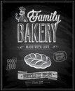 Vintage Bakery Poster Stock Images