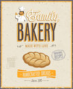 Vintage bakery poster vintagvintage vector illustration Stock Image