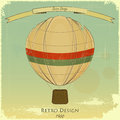 Vintage Balloon Retro card Stock Photo