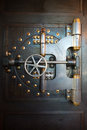 Vintage Bank Vault Door Safe Royalty Free Stock Photo