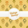 Vintage banner with flowers Stock Photo