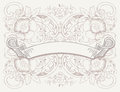 Vintage Banner On  High Ornate Background Royalty Free Stock Photo