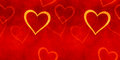 Vintage banner Valentines day. Royalty Free Stock Photo