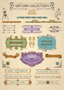 Vintage banners and labels set with decorative elements Royalty Free Stock Photos