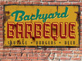 Barbeque BBQ Sign Royalty Free Stock Photo