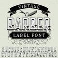 Vintage Barber Label Font Poster
