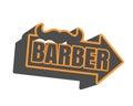 Vintage barber shop emblem or label