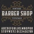 Vintage Barber Shop Typeface Poster