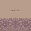 Vintage baroque border Stock Photo