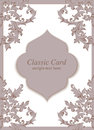 Vintage Baroque envelope Invitation card Imperial style. Vector decor background. Luxury Delicate Classic ornament