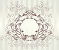Vintage baroque frame, vector Stock Photography