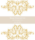 Vintage Baroque Invitation card Imperial style. Vector decor background. Luxury golden ornament. Royal Victorian floral