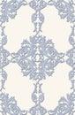 Vintage Baroque ornament floral pattern