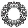 Vintage baroque ornament, retro pattern antique style Royalty Free Stock Photo