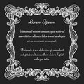 Vintage baroque ornate frame Royalty Free Stock Photo
