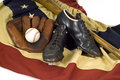 Vintage Baseball Gear Stock Photos