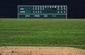 Vintage baseball scoreboard Royalty Free Stock Photo