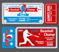 Vintage baseball, sports vector tickets set